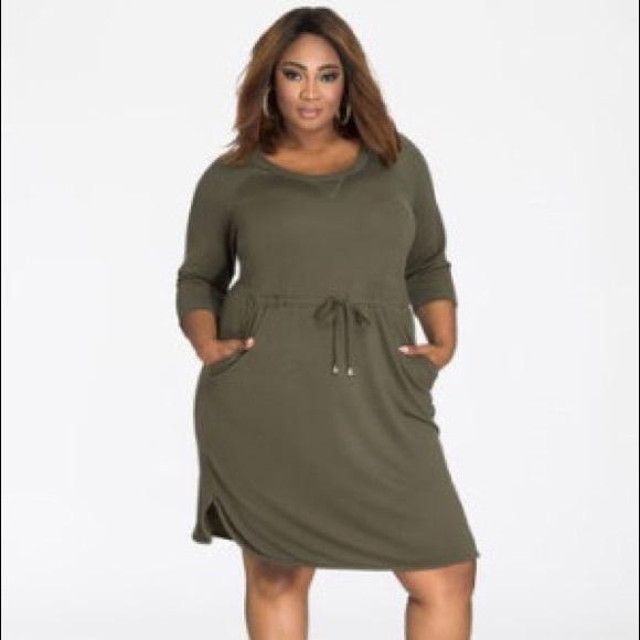 6fbfb874871 Ashley Stewart Dresses   Skirts - Drawstring Terry Cloth Ashley  StewartDress
